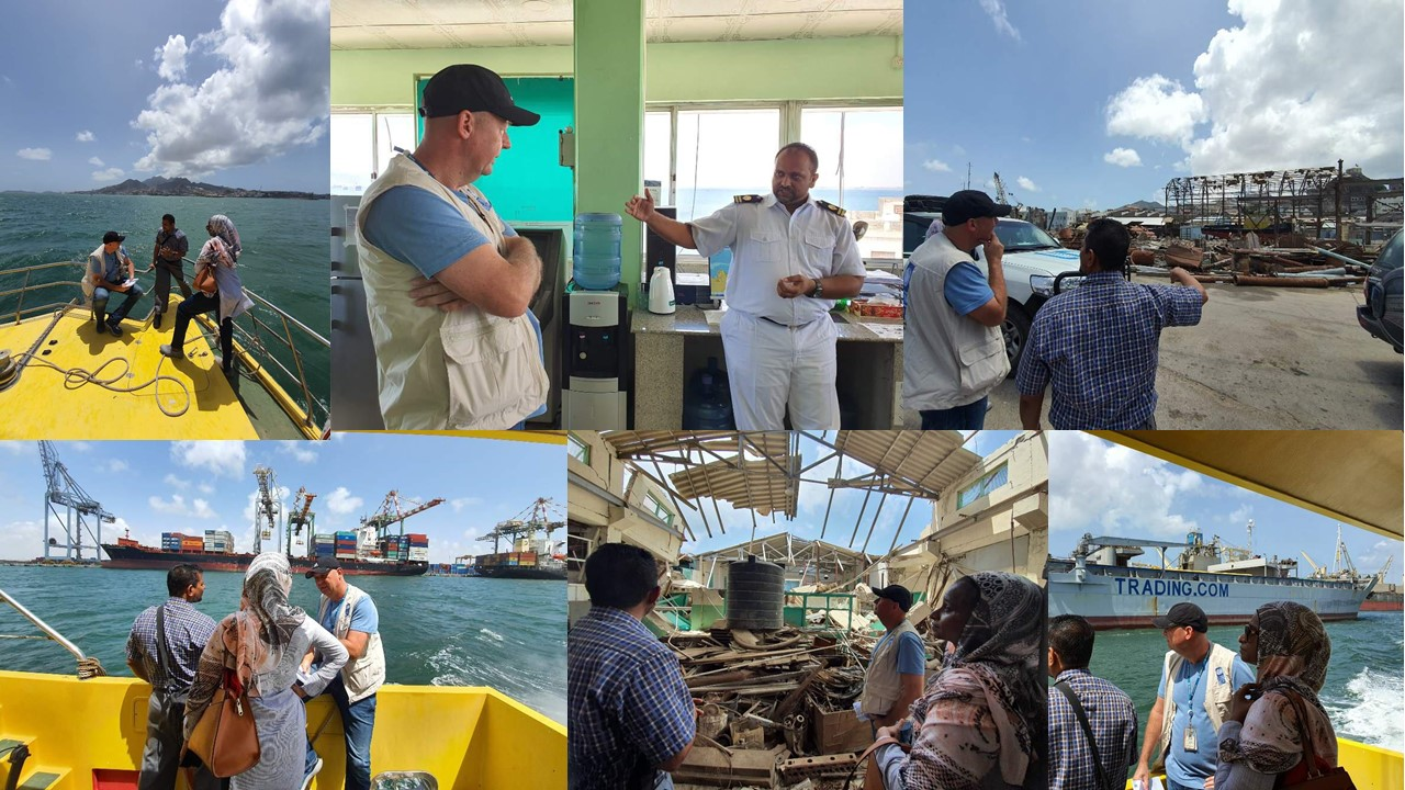 UNDP Resident Representative in Yemen conducts a field and sea visit to the Port of Aden