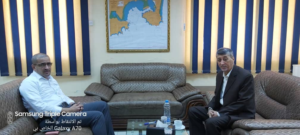 The Chairman of YGAPC Board of Directors meets the Chamber of Commerce Chairman in Aden